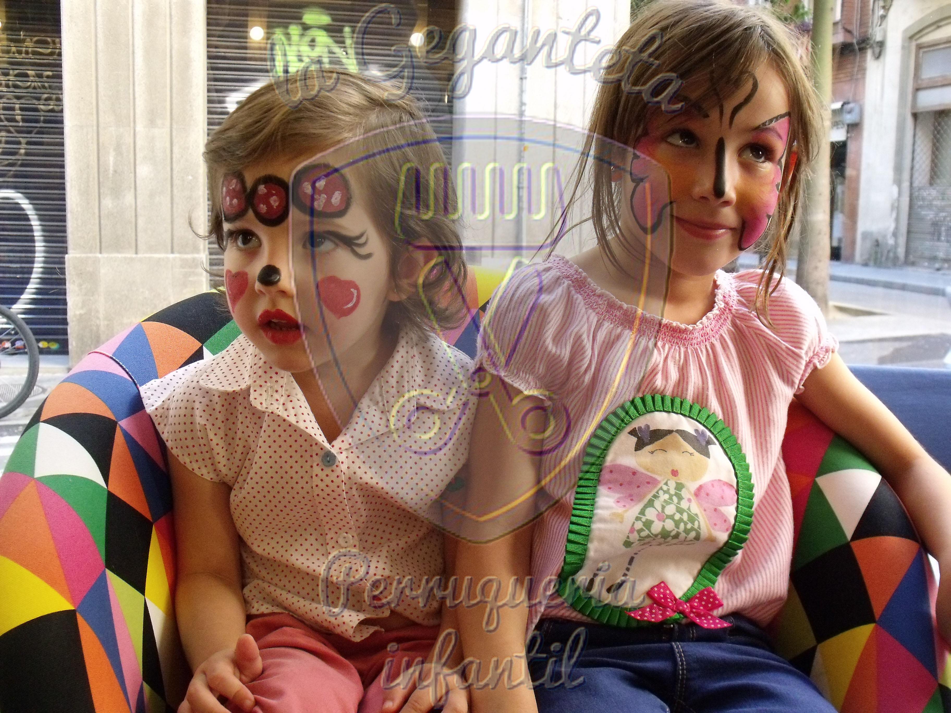 maquillaje peluqueria infantil geganteta